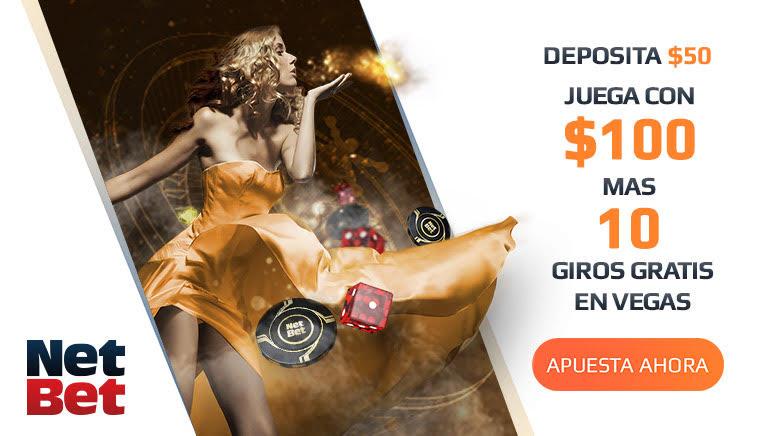 NetBet Casino da la bienvenida a nuevos miembros con un bono del 100% y hasta 10 tiros libres