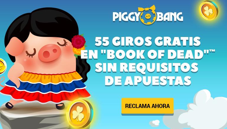 Los nuevos miembros de Piggy Bang recibirán hasta 55 giros libres con su primer depósito