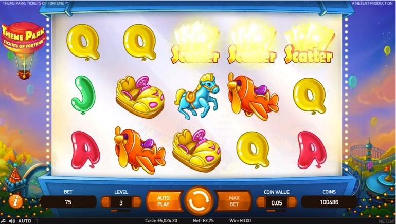 Theme Park: Tickets of Fortune ya está disponible en los casinos NetEnt